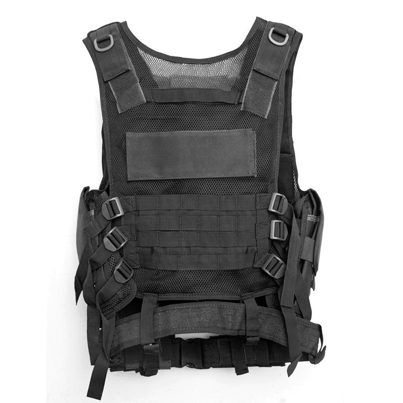 Chaleco-de-hombres-Chaleco-corporal-de-camuflaje-armadura-molle-Equipo-de-j-Y8P5 miniatura 3