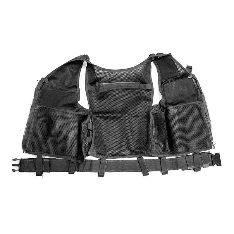 Chaleco-de-hombres-Chaleco-corporal-de-camuflaje-armadura-molle-Equipo-de-j-Y8P5 miniatura 4