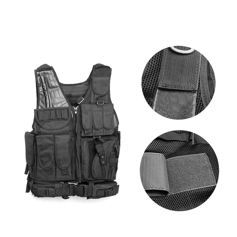 Chaleco-de-hombres-Chaleco-corporal-de-camuflaje-armadura-molle-Equipo-de-j-Y8P5 miniatura 5