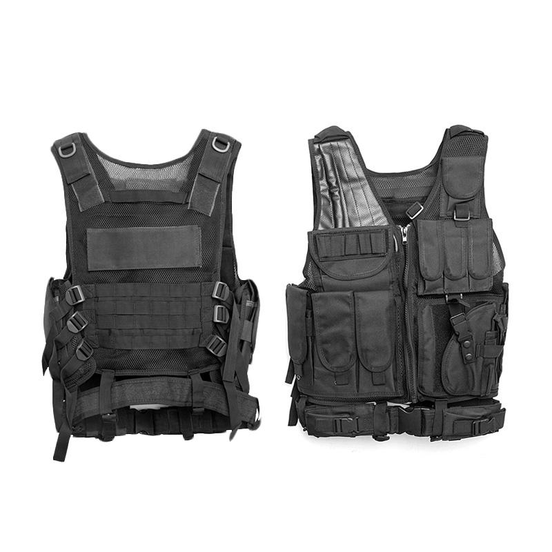 Chaleco-de-hombres-Chaleco-corporal-de-camuflaje-armadura-molle-Equipo-de-j-Y8P5 miniatura 6