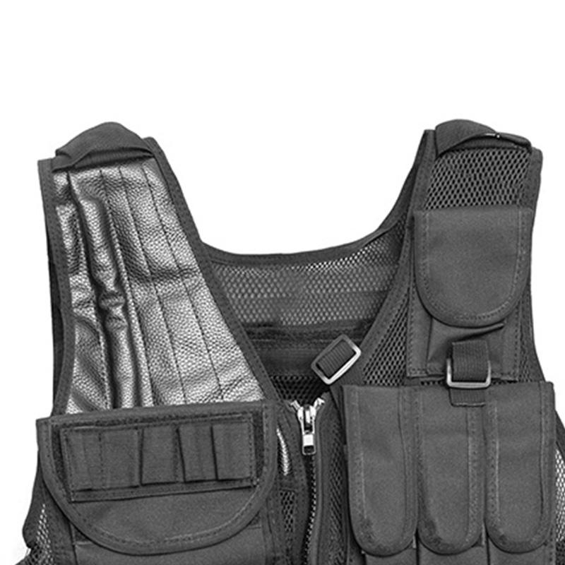 Chaleco-de-hombres-Chaleco-corporal-de-camuflaje-armadura-molle-Equipo-de-j-Y8P5 miniatura 7