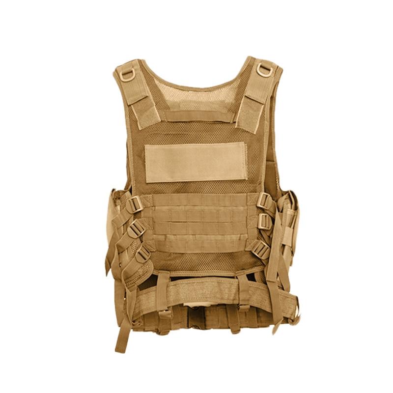 Chaleco-de-hombres-Chaleco-corporal-de-camuflaje-armadura-molle-Equipo-de-j-Y8P5 miniatura 9