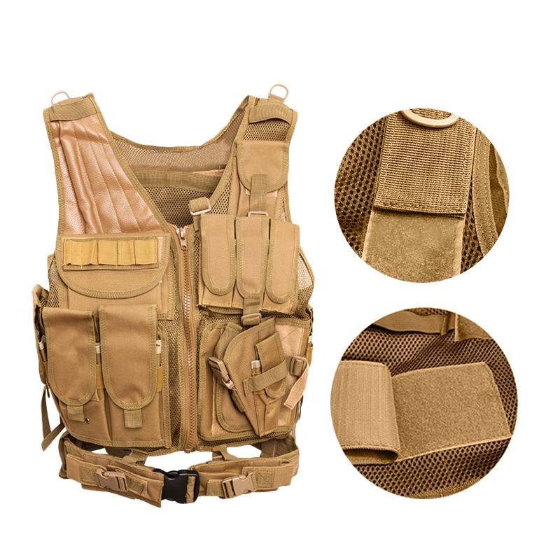 Chaleco-de-hombres-Chaleco-corporal-de-camuflaje-armadura-molle-Equipo-de-j-Y8P5 miniatura 11