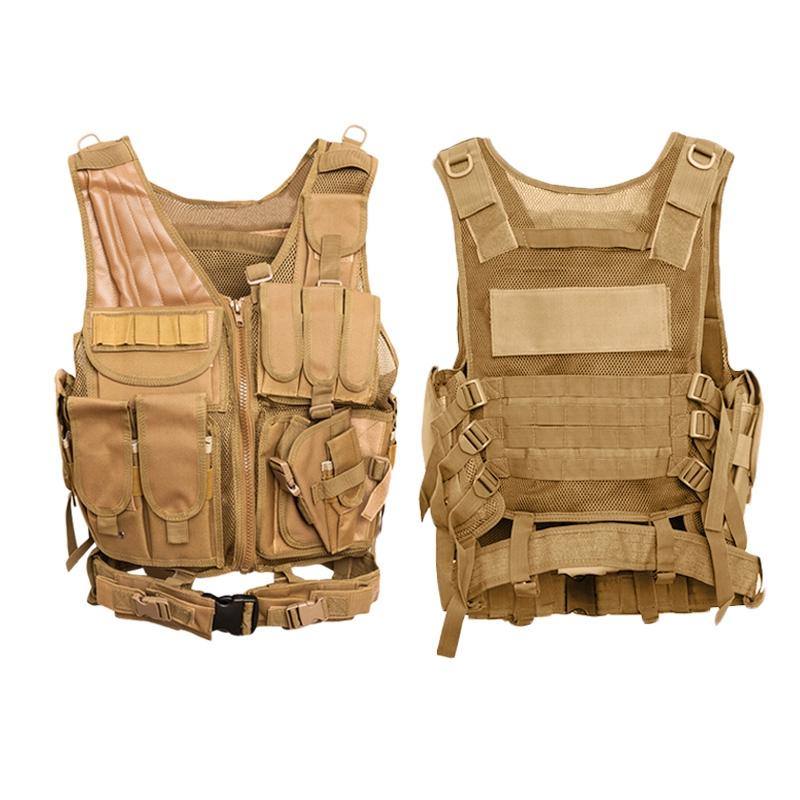 Chaleco-de-hombres-Chaleco-corporal-de-camuflaje-armadura-molle-Equipo-de-j-Y8P5 miniatura 12
