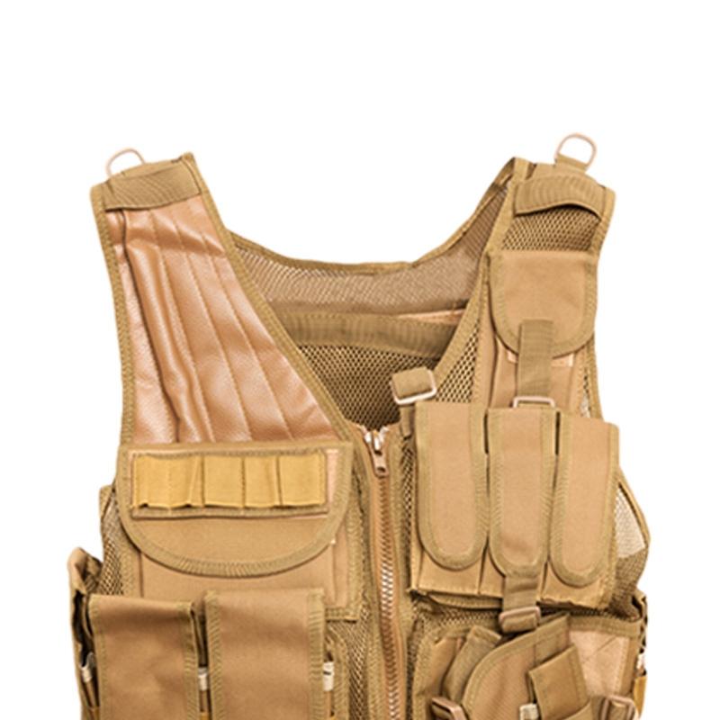 Chaleco-de-hombres-Chaleco-corporal-de-camuflaje-armadura-molle-Equipo-de-j-Y8P5 miniatura 13