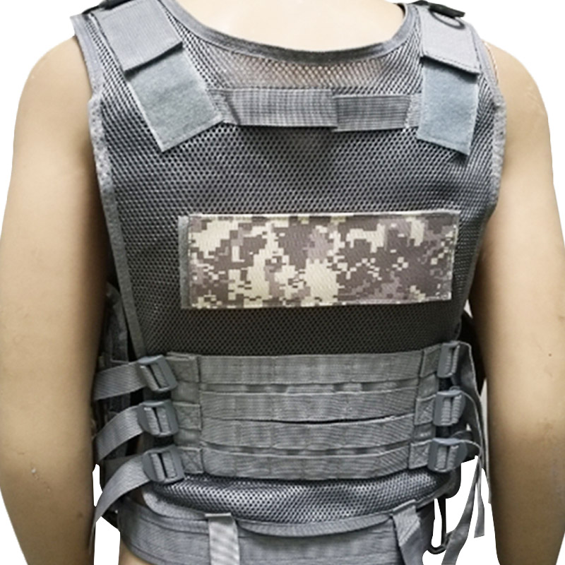 Chaleco-de-hombres-Chaleco-corporal-de-camuflaje-armadura-molle-Equipo-de-j-Y8P5 miniatura 15