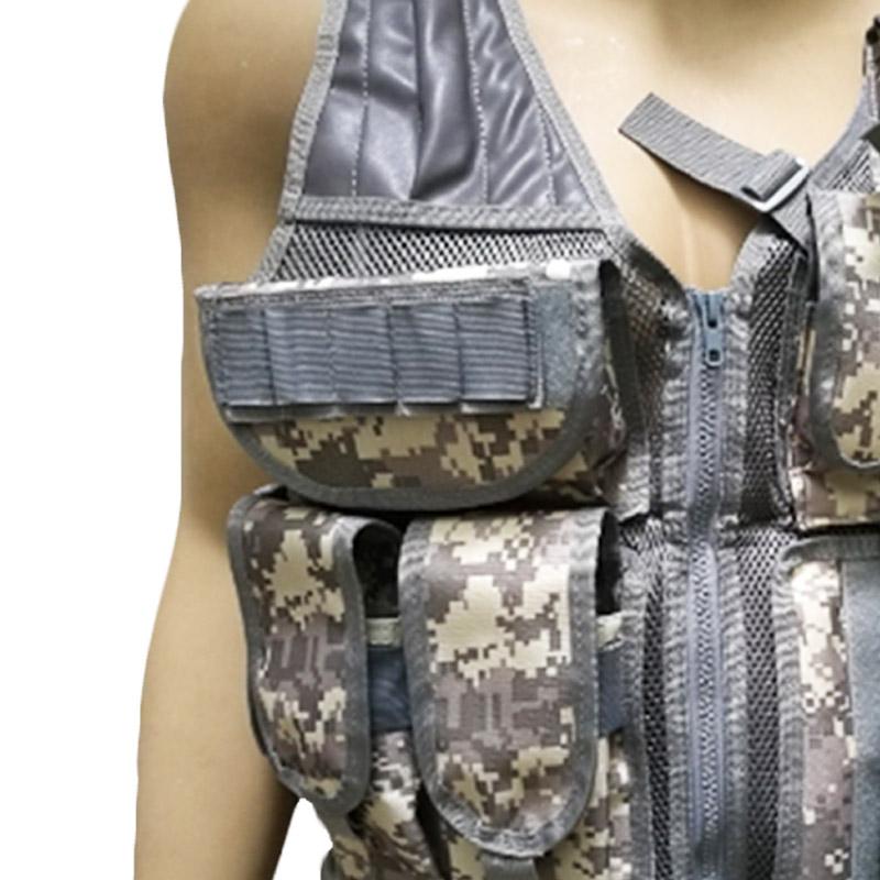 Chaleco-de-hombres-Chaleco-corporal-de-camuflaje-armadura-molle-Equipo-de-j-Y8P5 miniatura 16