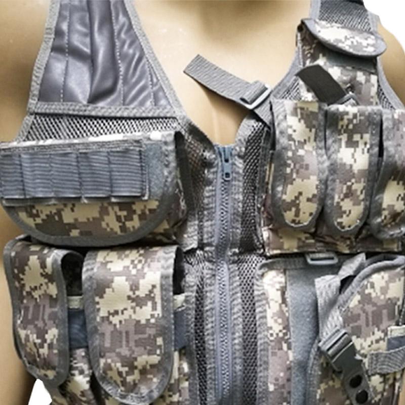 Chaleco-de-hombres-Chaleco-corporal-de-camuflaje-armadura-molle-Equipo-de-j-Y8P5 miniatura 18