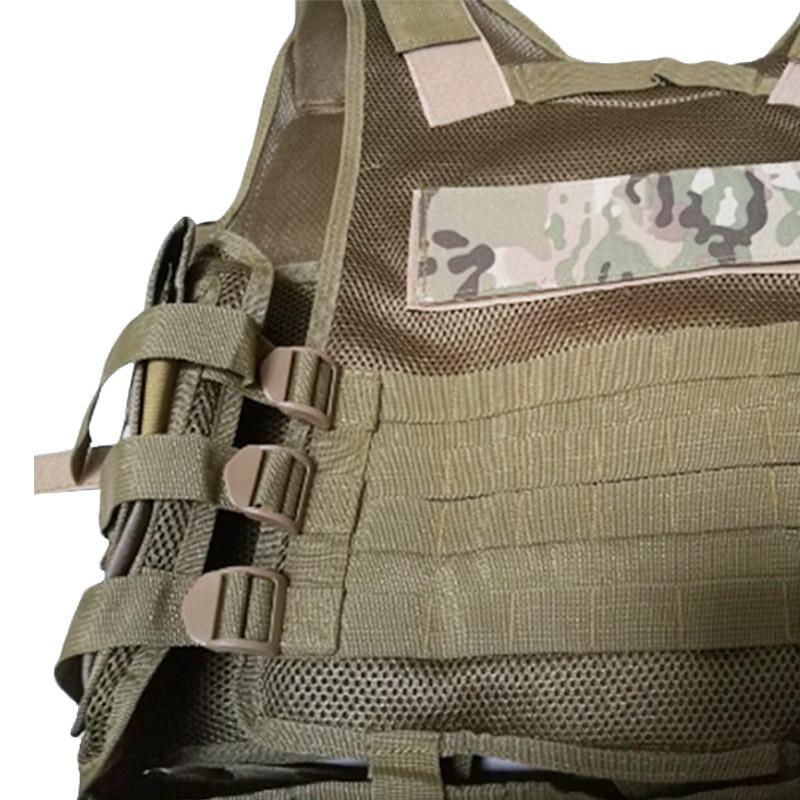 Chaleco-de-hombres-Chaleco-corporal-de-camuflaje-armadura-molle-Equipo-de-j-Y8P5 miniatura 23