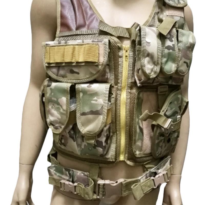 Chaleco-de-hombres-Chaleco-corporal-de-camuflaje-armadura-molle-Equipo-de-j-Y8P5 miniatura 29