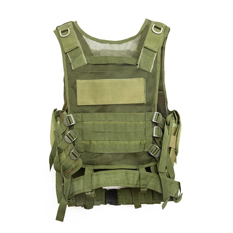 Chaleco-de-hombres-Chaleco-corporal-de-camuflaje-armadura-molle-Equipo-de-j-Y8P5 miniatura 31