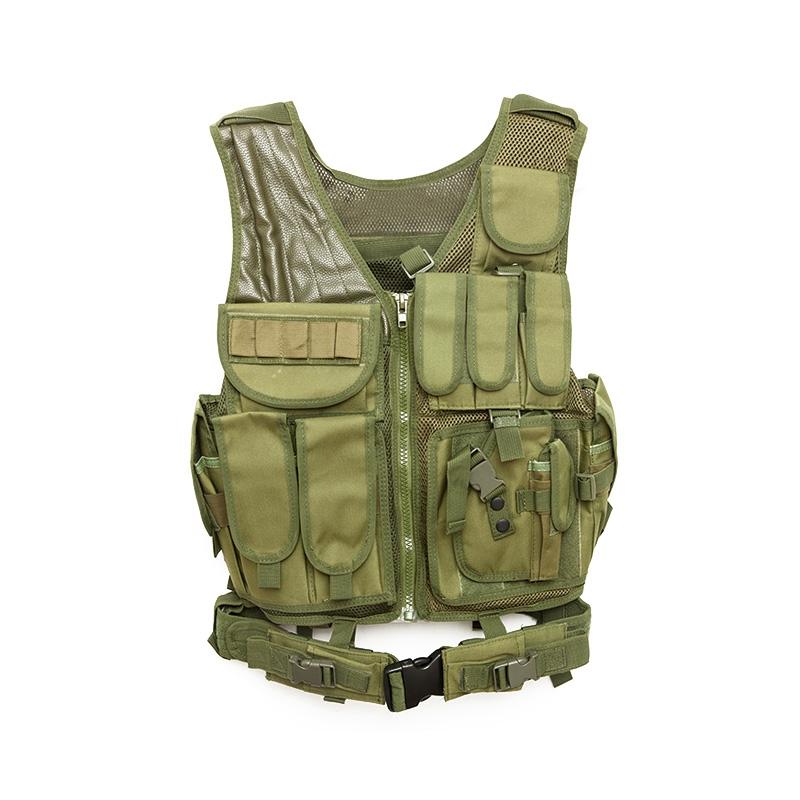 Chaleco-de-hombres-Chaleco-corporal-de-camuflaje-armadura-molle-Equipo-de-j-Y8P5 miniatura 33