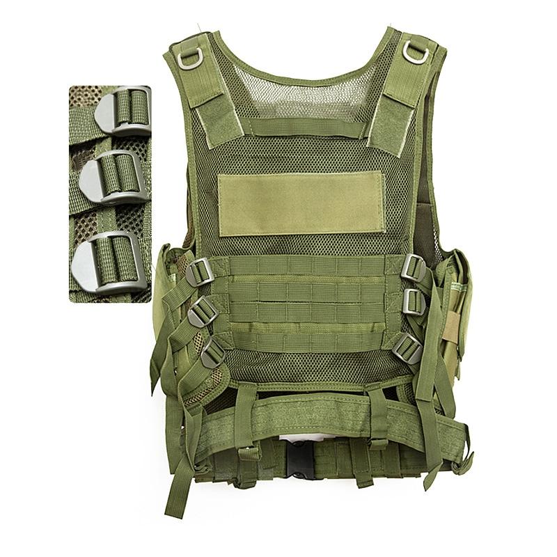 Chaleco-de-hombres-Chaleco-corporal-de-camuflaje-armadura-molle-Equipo-de-j-Y8P5 miniatura 34