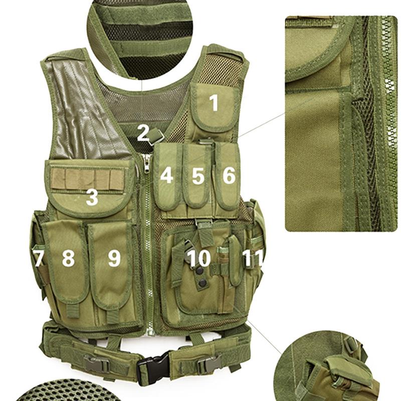 Chaleco-de-hombres-Chaleco-corporal-de-camuflaje-armadura-molle-Equipo-de-j-Y8P5 miniatura 35