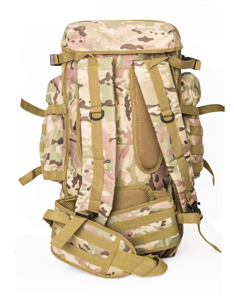 Zaino-da-60L-Zaino-da-viaggio-Zaino-tattico-per-tiro-Caccia-Campeggio-Trekk-W5H8 miniatura 3