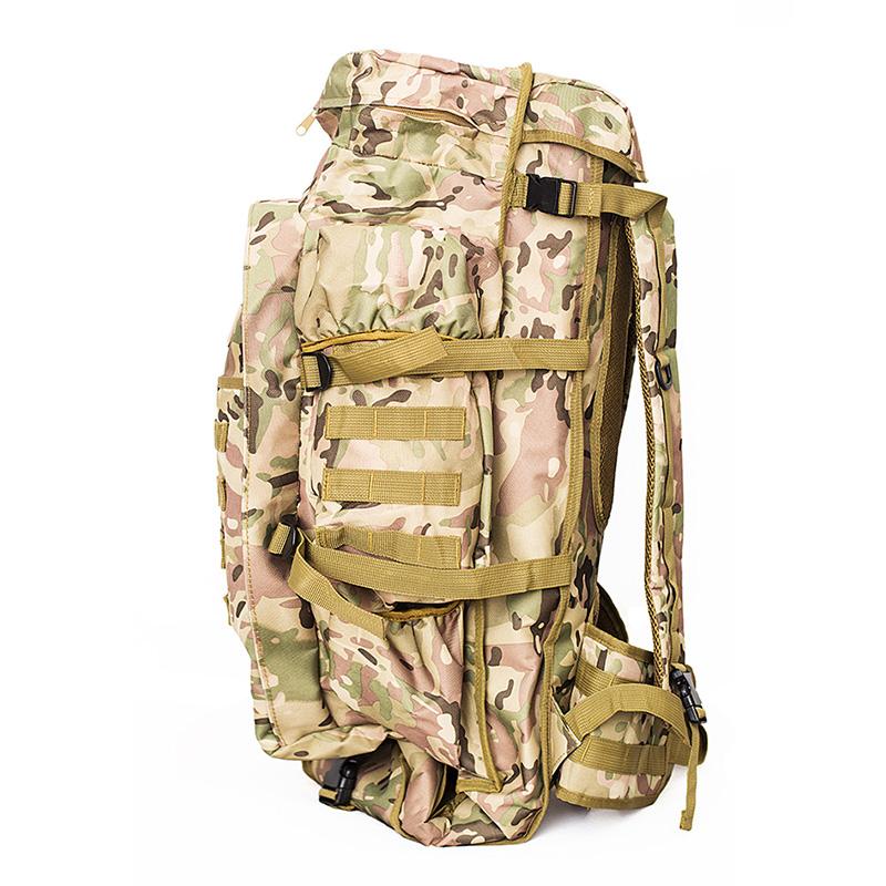 Zaino-da-60L-Zaino-da-viaggio-Zaino-tattico-per-tiro-Caccia-Campeggio-Trekk-W5H8 miniatura 4