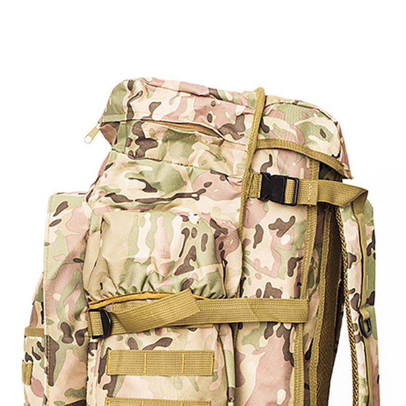 Zaino-da-60L-Zaino-da-viaggio-Zaino-tattico-per-tiro-Caccia-Campeggio-Trekk-W5H8 miniatura 5