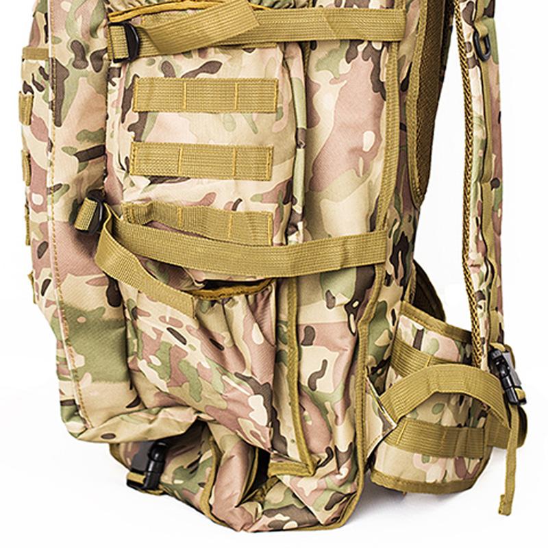 Zaino-da-60L-Zaino-da-viaggio-Zaino-tattico-per-tiro-Caccia-Campeggio-Trekk-W5H8 miniatura 6