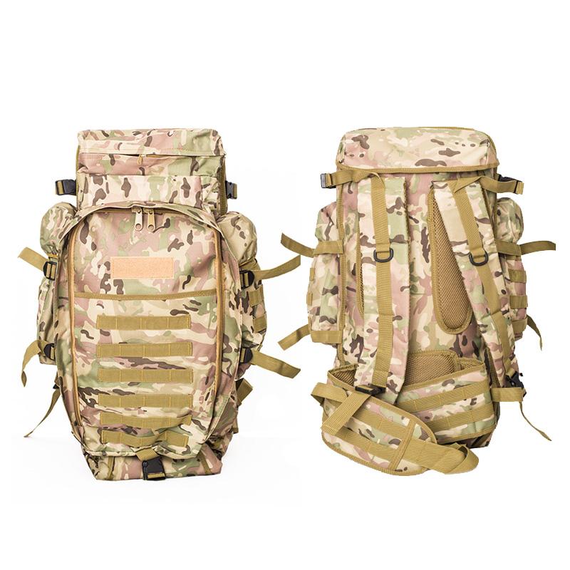 Zaino-da-60L-Zaino-da-viaggio-Zaino-tattico-per-tiro-Caccia-Campeggio-Trekk-W5H8 miniatura 7