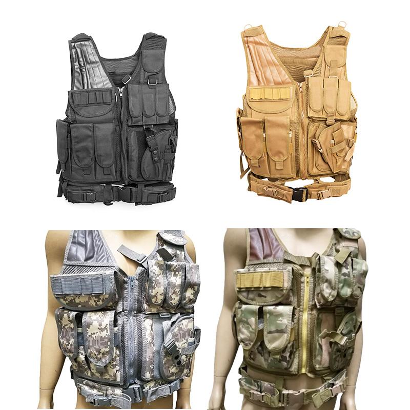 5X(Vest Camouflage corpo Vest Molle armatura esterna Jungle attrezzature da H7S2
