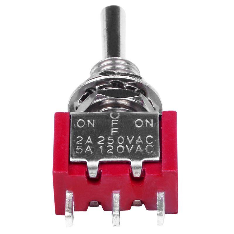 2pzs AC 250V 2A 120V 5A SPDT Interruptor de palanca momentaneo 3 posiciones C6V5