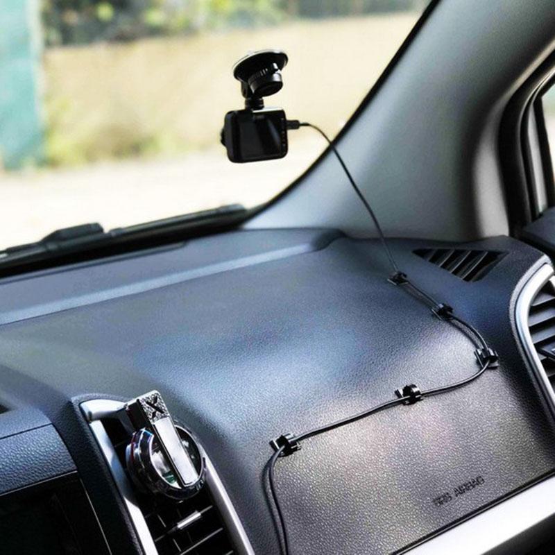 20pcs-Clips-de-cable-de-voiture-adhesifs-Enrouleur-de-cable-Attache-de-fil-de-1M miniature 4
