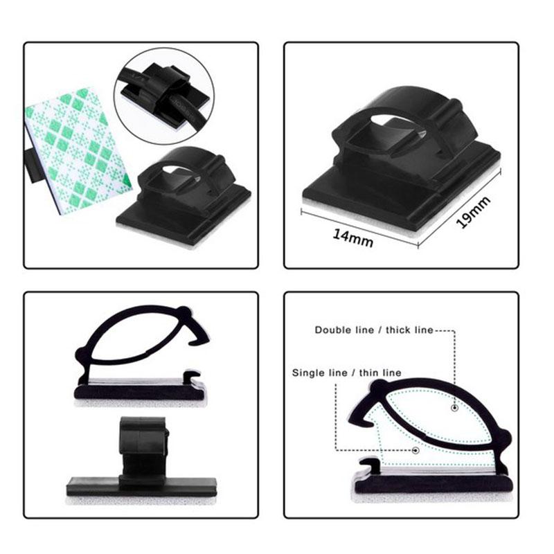 20pcs-Clips-de-cable-de-voiture-adhesifs-Enrouleur-de-cable-Attache-de-fil-de-1M miniature 6