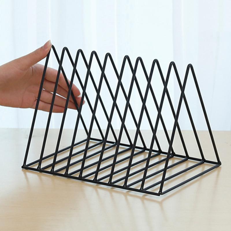Bookshelf-iron-Geometry-Newspapers-and-Magazines-Storage-Rack-Home-Decor-S-X2W6 miniature 7