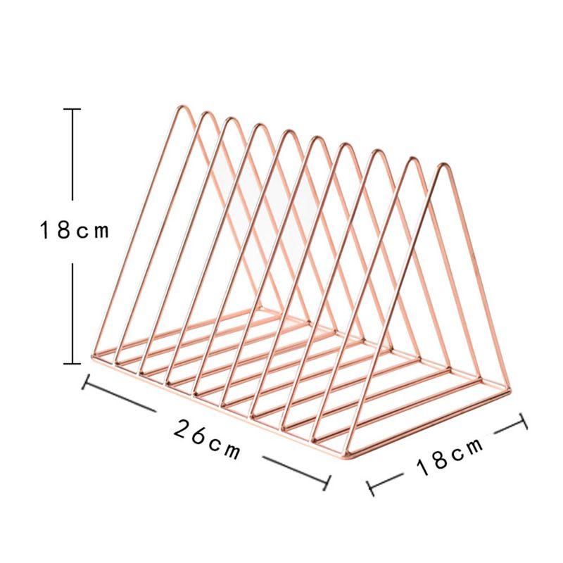 Bookshelf-iron-Geometry-Newspapers-and-Magazines-Storage-Rack-Home-Decor-S-X2W6 miniature 18