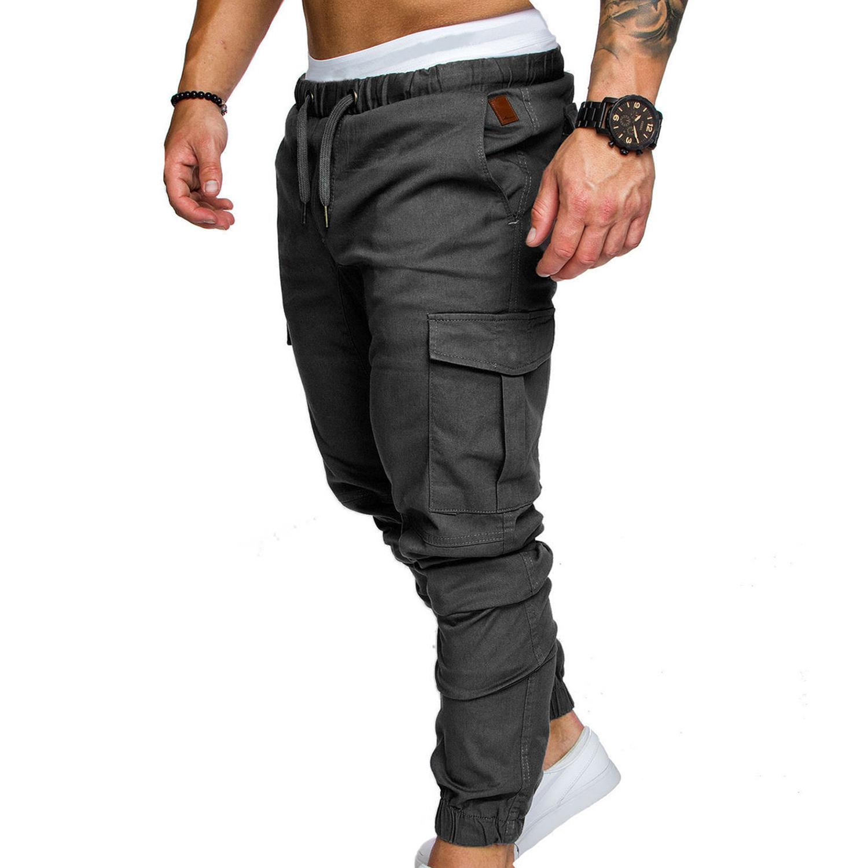 1x Pantalones Mono Multibolsillos Para Hombres Pantalones Para Fitness Ir Am4b4 Control Ar Com Ar