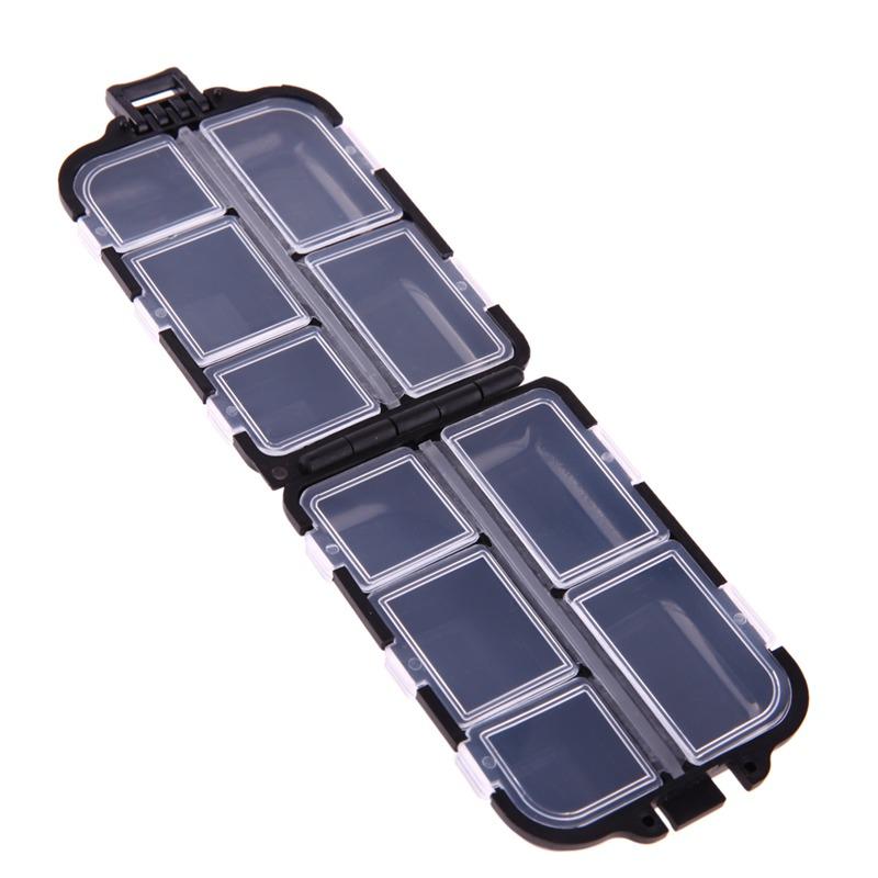 Caja-de-aparejo-de-pesca-de-utilidad-de-10-enrejados-Senuelos-Ganchos-W2B8 miniatura 4