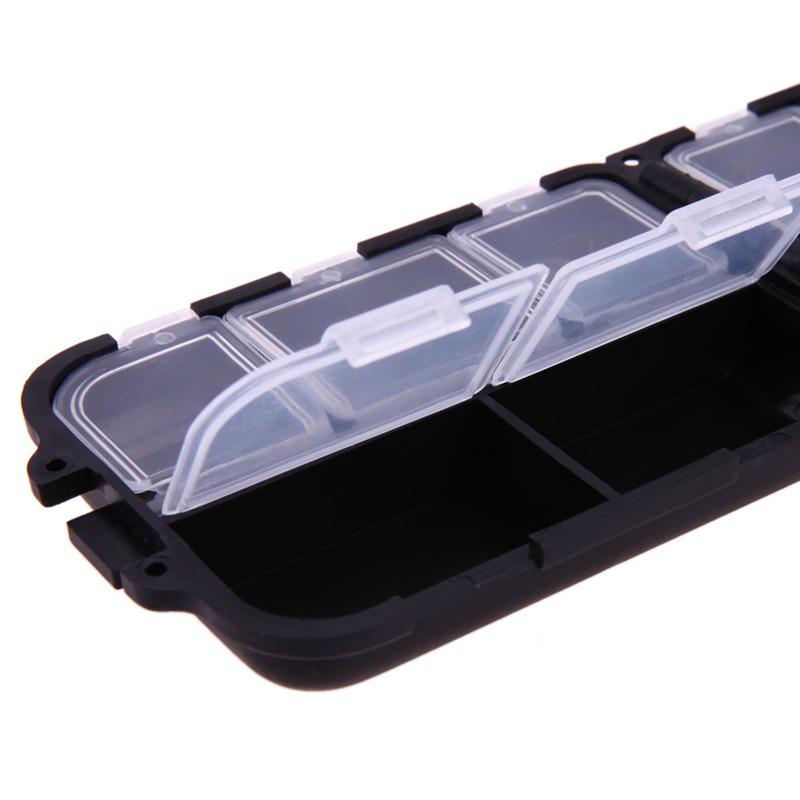 Caja-de-aparejo-de-pesca-de-utilidad-de-10-enrejados-Senuelos-Ganchos-W2B8 miniatura 8
