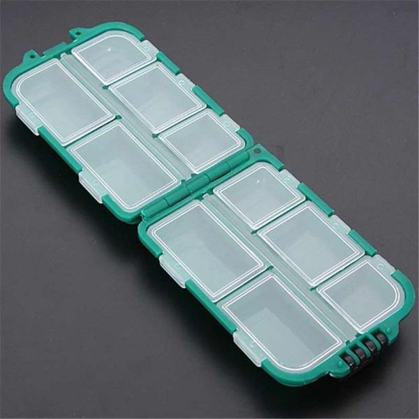 Caja-de-aparejo-de-pesca-de-utilidad-de-10-enrejados-Senuelos-Ganchos-W2B8 miniatura 12