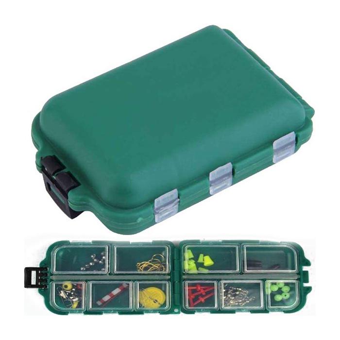 Caja-de-aparejo-de-pesca-de-utilidad-de-10-enrejados-Senuelos-Ganchos-W2B8 miniatura 17