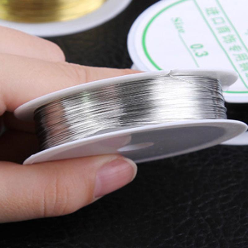 rollo-de-cinta-22m-alambre-metal-para-joyeria-fabricacion-artesanal-0-3mm-O8Q3 miniatura 4