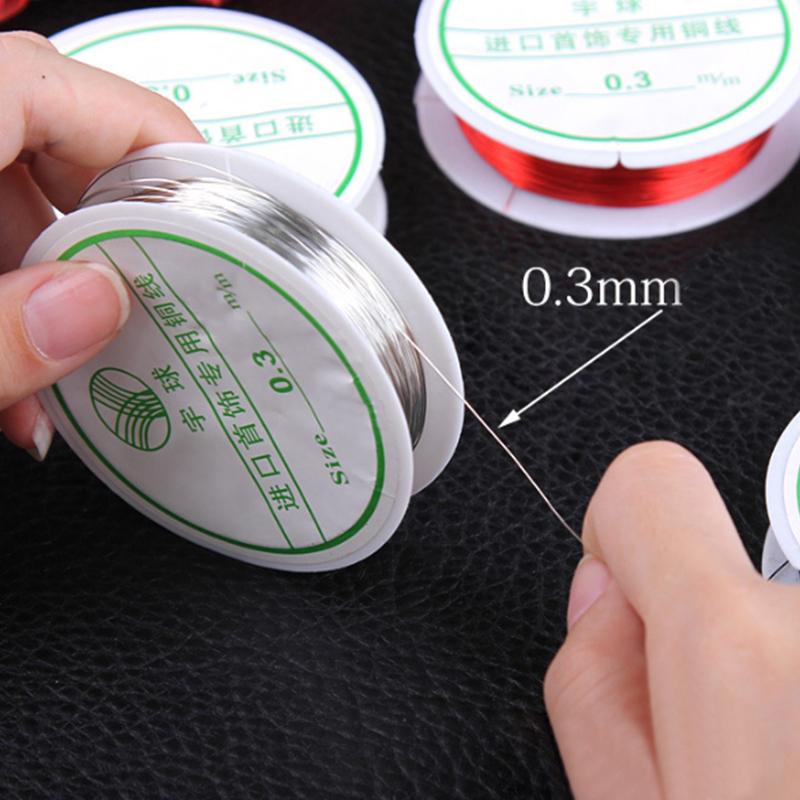 rollo-de-cinta-22m-alambre-metal-para-joyeria-fabricacion-artesanal-0-3mm-O8Q3 miniatura 6