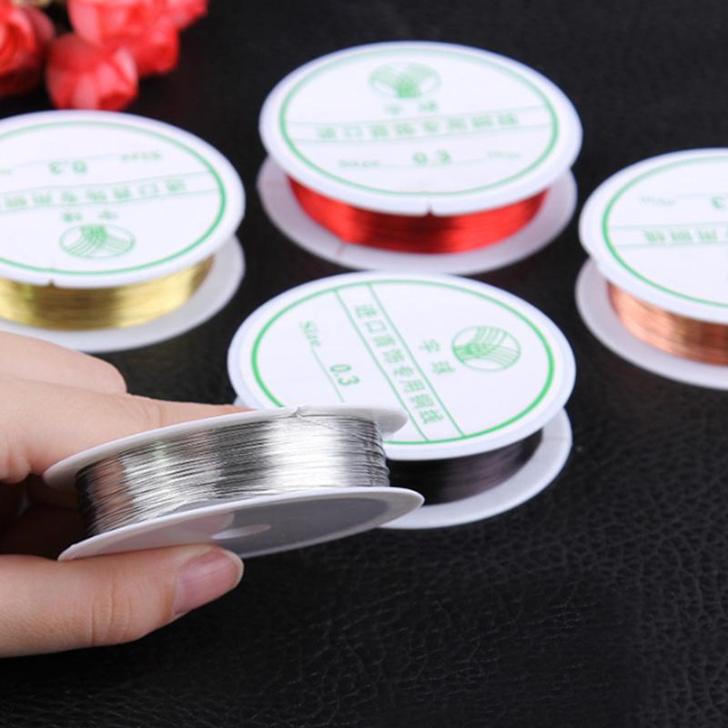 rollo-de-cinta-22m-alambre-metal-para-joyeria-fabricacion-artesanal-0-3mm-O8Q3 miniatura 7