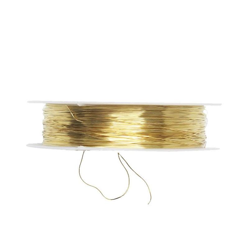 rollo-de-cinta-22m-alambre-metal-para-joyeria-fabricacion-artesanal-0-3mm-O8Q3 miniatura 9