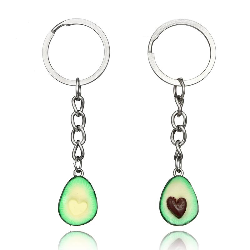 Cute-green-avocado-friendship-keychain-set-hearts-asymmetric-bff-avocado-gi-Y8J2 thumbnail 2