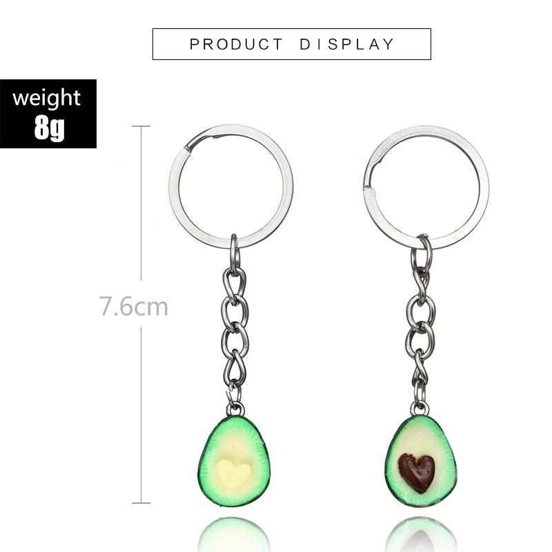 Cute-green-avocado-friendship-keychain-set-hearts-asymmetric-bff-avocado-gi-Y8J2 thumbnail 3