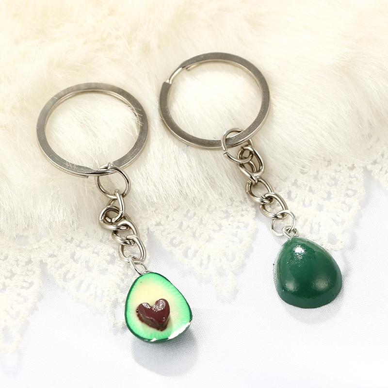 Cute-green-avocado-friendship-keychain-set-hearts-asymmetric-bff-avocado-gi-Y8J2 thumbnail 6