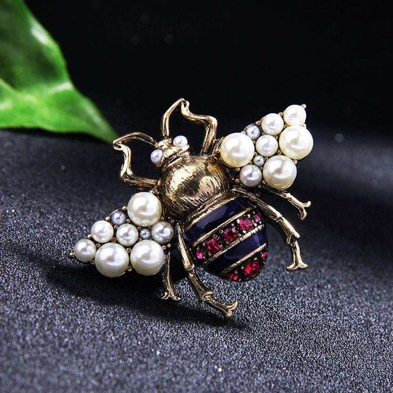 Vintage Biene Pin Brosche Modeschmuck Anstecknadel V4O7