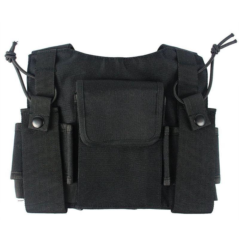 Radio-bolsillo-de-bolsillo-arnes-de-pecho-arcon-cofre-chaleco-maleta-2-vias-O1L1 miniatura 5