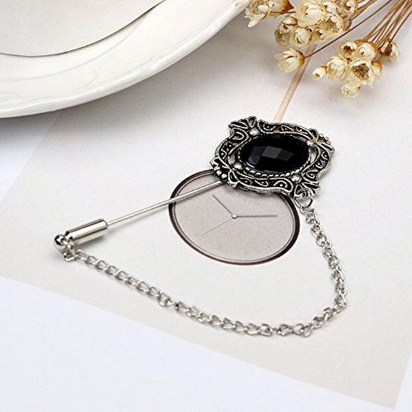 1pz Pin negro de broche estilo vintage para regalos mujer chica D5G6 2X