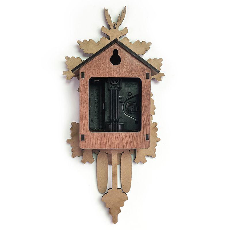 Vintage-Home-Decorative-Bird-Wall-Clock-Hanging-Wood-Cuckoo-Clock-Living-Ro-C2D6 thumbnail 3