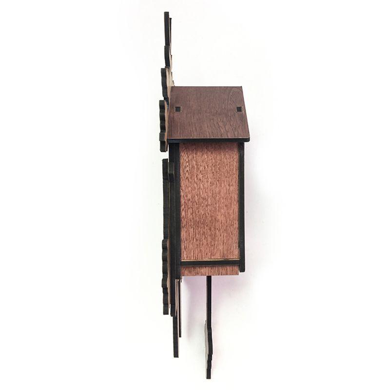 Vintage-Home-Decorative-Bird-Wall-Clock-Hanging-Wood-Cuckoo-Clock-Living-Ro-C2D6 thumbnail 4
