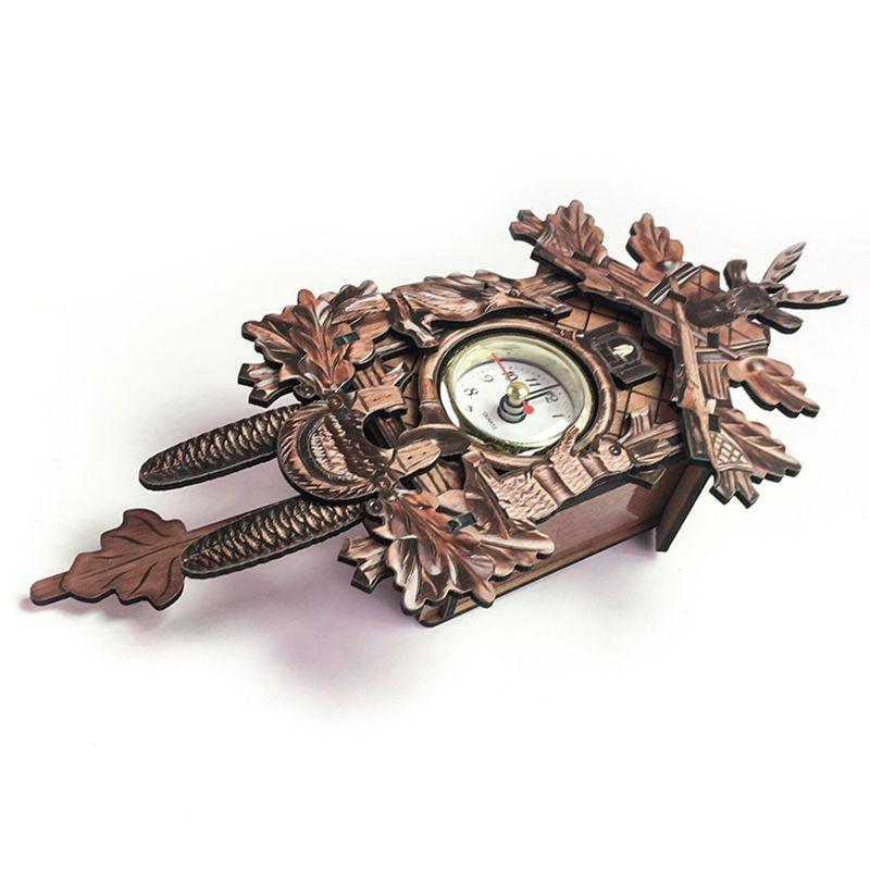 Vintage-Home-Decorative-Bird-Wall-Clock-Hanging-Wood-Cuckoo-Clock-Living-Ro-C2D6 thumbnail 6