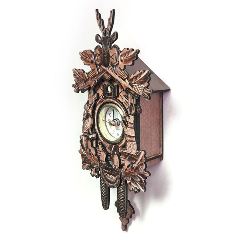 Vintage-Home-Decorative-Bird-Wall-Clock-Hanging-Wood-Cuckoo-Clock-Living-Ro-C2D6 thumbnail 8
