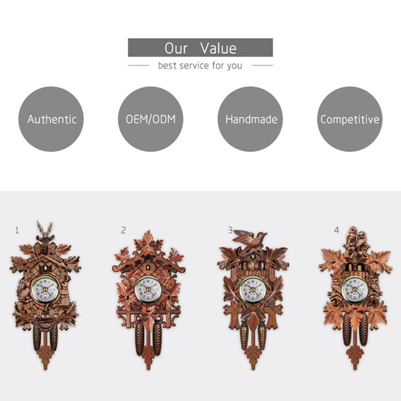 Vintage-Home-Decorative-Bird-Wall-Clock-Hanging-Wood-Cuckoo-Clock-Living-Ro-C2D6 thumbnail 11