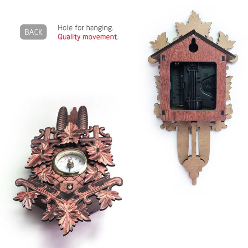 Vintage-Home-Decorative-Bird-Wall-Clock-Hanging-Wood-Cuckoo-Clock-Living-Ro-C2D6 thumbnail 12